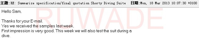 Surfing wetsuits sample comments -18