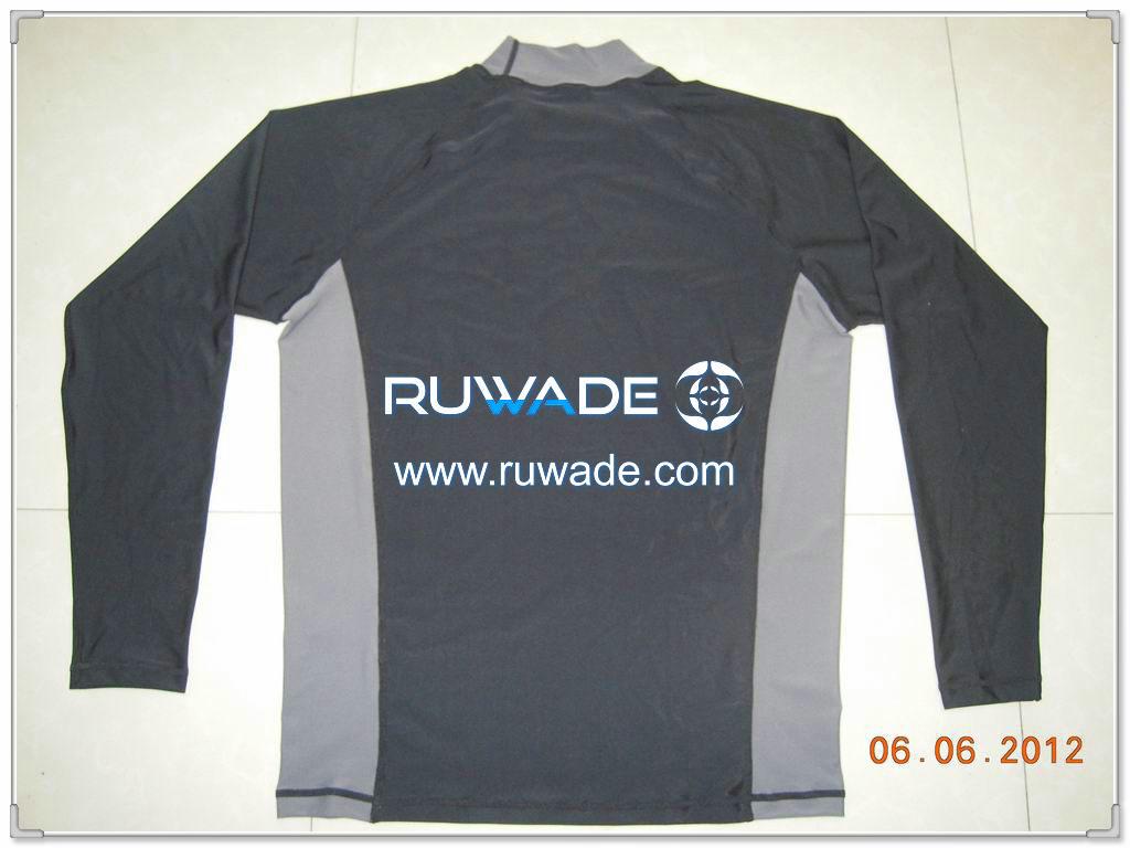 UV50   uomini camicia a maniche lunghe lycra rash guard -076