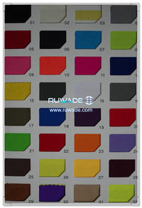Lycra color swatch card