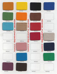 Neoprene color swatch card