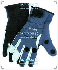 Fold back neoprene fishing gloves -002