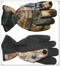 Fold back neoprene camo fishing gloves -004