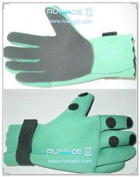 4mm fold back neoprene fishing gloves -005