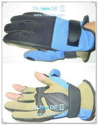 Fold back neoprene fishing gloves -007
