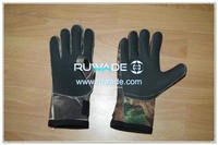 Fold back neoprene fishing gloves -008-2