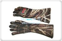 4mm camo neoprene long gloves for fishing -001