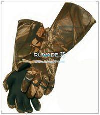4мм неопрен камуфляж рыболовные перчатки -006
