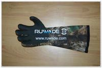 4mm long camouflage neoprene hunting gloves -008