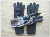 2mm long camouflage neoprene hunting gloves -009