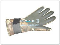 5mm camo neoprene fishing gloves -020