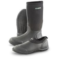 Neoprene high knee rubber boots -016