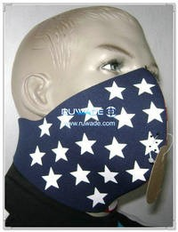 In neoprene Stars and Stripes mezza maschera -064
