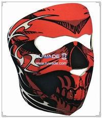 ネオプレン レッド ・ スカル フルフェイスのマスク -085