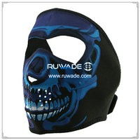 Neoprene blue chrome skull full face mask -087