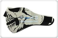 Neoprene skull 1/2 face mask -108