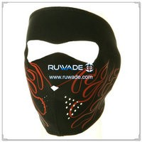 Neoprene red flames full face mask -130