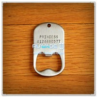Silicone wrap bottle opener dog tag -019