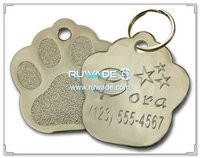 Silber-Nickel-Paw-förmigen Pet-ID-Tag -004