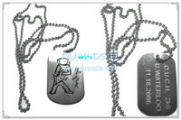 In acciaio inox dog tag ID -028