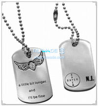 Stainless steel pet ID tag -031