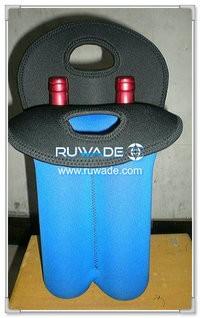 Tote con borsa cooler di due/2 pack in neoprene vino bottiglia -024