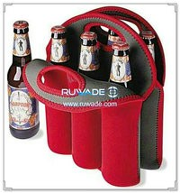 Six/6 pack neoprene beer water bottle cooler bag -001