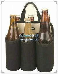 Six/6 pack neoprene beer water bottle cooler bag -004
