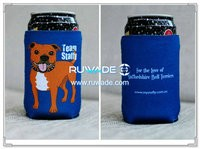 Neoprene collapsible can cooler holder koozie -047