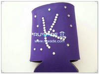 Neoprene collapsible can koozie with bling -064