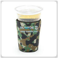 Neoprene camo disposable cup koozie -002