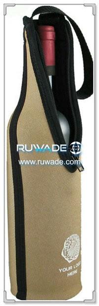 Neoprene red wine bottle cooler holder/wine tote insulator -023