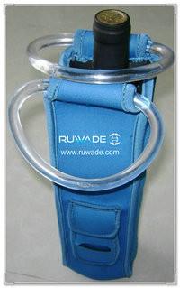 Neoprene red wine bottle cooler holder/wine tote insulator -026