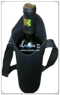 Neoprene red wine bottle cooler holder/wine tote insulator -027