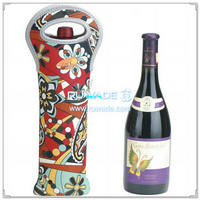 Neoprene champagne bottle cooler holder/wine tote insulator -036