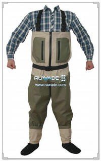 Waterproof breathable chest fishing wader -009