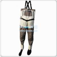 Waterproof breathable chest fishing wader -027