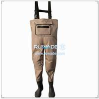 Waterproof breathable chest fishing wader -034