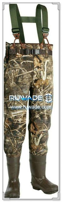 Men camo neoprene fishing wader -004