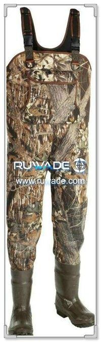 Men camo neoprene fishing wader -005