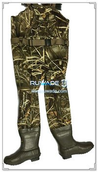 Men camo neoprene fishing wader -006