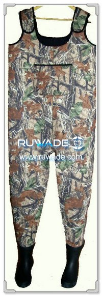 Men camo neoprene chest wader -008