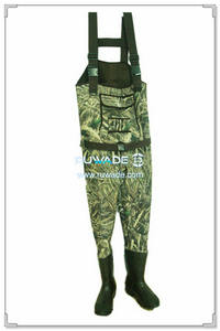 Camo hunting neoprene chest fishing wader -010