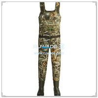 Grass camo neoprene chest fishing wader -013
