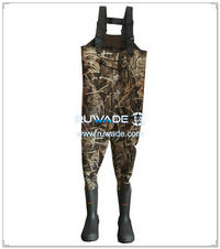 Camo hunting neoprene chest fishing wader -018