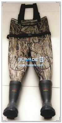 Camo hunting neoprene chest fishing wader -021