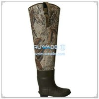 Camo neoprene hip waders -001