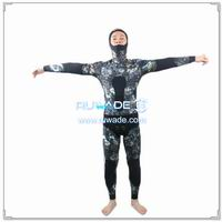 Camo neoprene spearfishing setelan -007