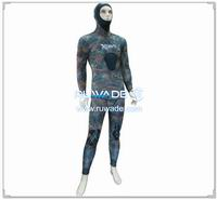 Camo neoprene spearfishing setelan -009