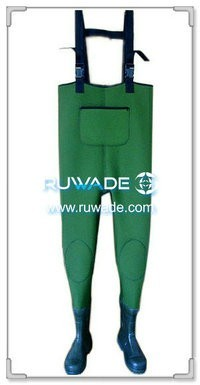 Plain color neoprene chest wader -006