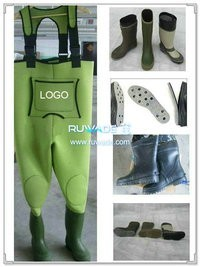 Plain color neoprene chest wader -009